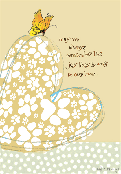 Heartfelt Special Sympathy Pet Cards it takes two, inc