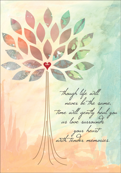 Beautiful Sympathy Card for Anniversary of a Death it takes two, inc