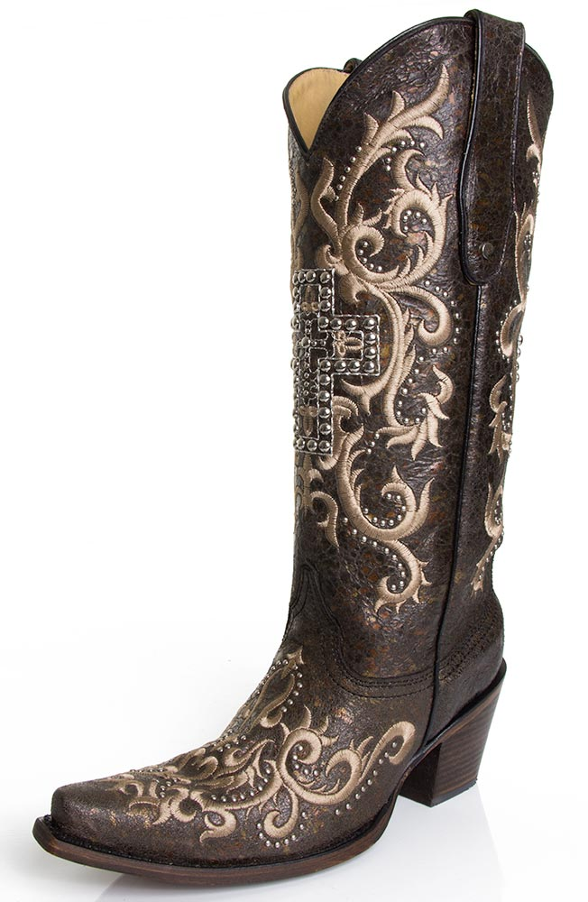 Cowgirl Boots With Crosses On Them Coltford Boots