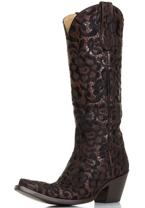 Corral Women39s Western Floral Lace Cowboy Boots