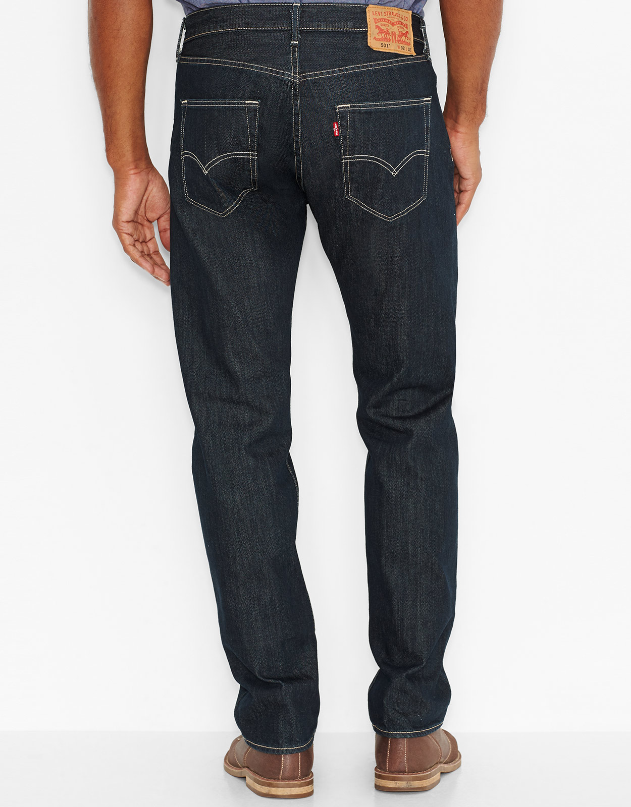 Jeans Levis Levi's Men's 501 Original Fit Jeans - Clean Rigid