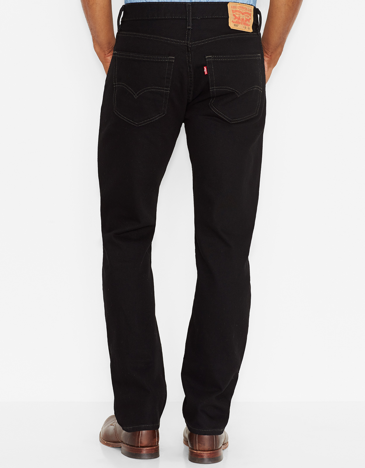 Jeans Levis Levi S Men S 505 Regular Fit Jeans Black