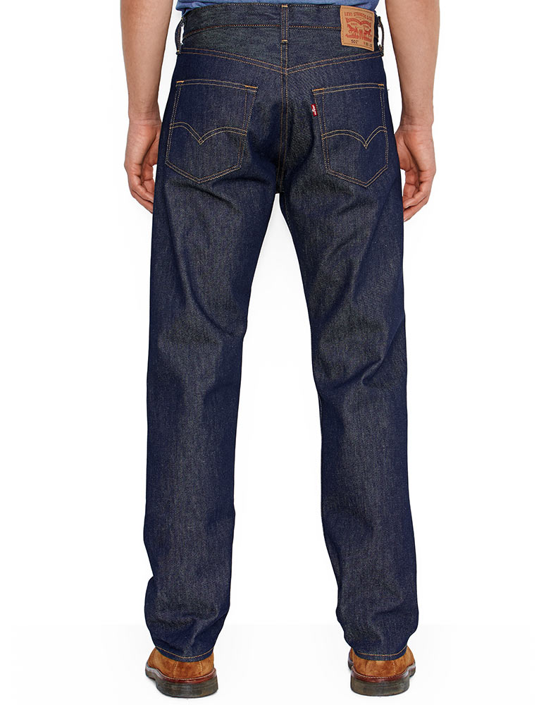 Jeans Levis Levi's Men's 501 Original Shrink To Fit Mid Rise Regular ...