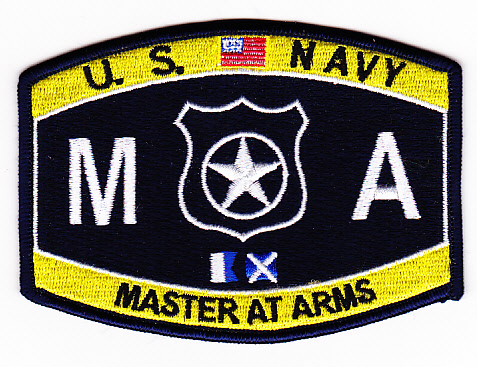 US Navy Master at Arms MA Patch - us navy master at arms