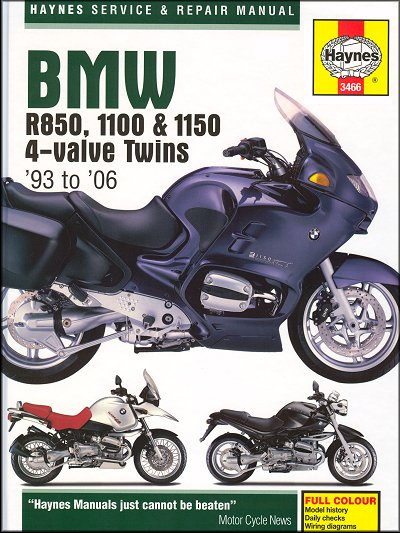 BMW R850, R1100, R1150, R850R, R1100GS, R1100RS Manual 1993-2006