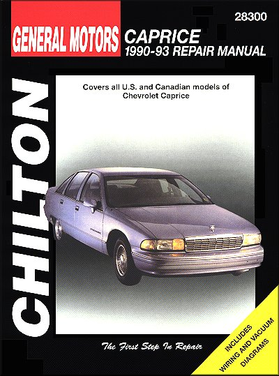 Chevy Caprice Repair Manual 1990-1993 - Chilton 28300