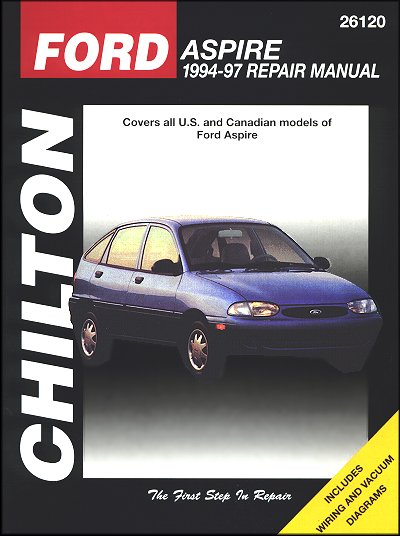 Ford Aspire Repair Workshop Manual 1994-1997 - Chilton 26120