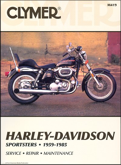 Harley-Davidson Sportster 883, 1000 Repair Manual 1959-1985 Clymer