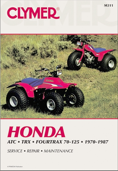 Honda ATC70/90/110/125, Fourtrax, TRX125 Repair Manual 1970-1987