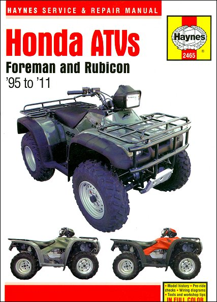 Honda Foreman 400, 450, Rubicon 500 Repair Manual 1995-2011