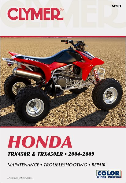 Honda TRX450R, TRX450ER ATV Repair Manual 2004-2009 Clymer M201