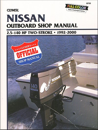 Nissan Outboard Repair Manual by Clymer - 1992-2000