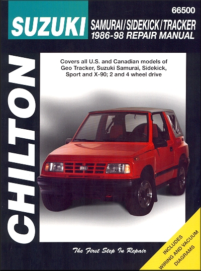Suzuki Samurai, Sidekick; Geo Tracker Repair Manual 1986-1998