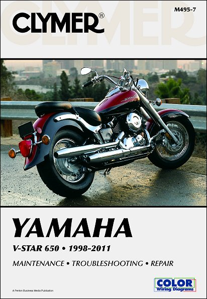 Yamaha V-Star 650 Repair Service Manual 1998-2011 - Clymer M495-7
