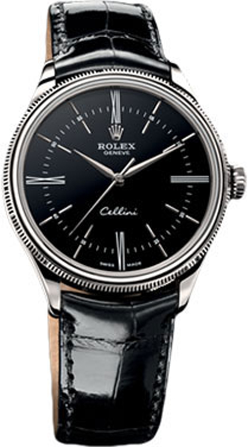 Cellini Watch 50509 Rolex Cellini Time Black Dial Watch