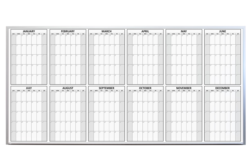 Magnetic 12 Month Dry Erase Calendar - yearly calendar