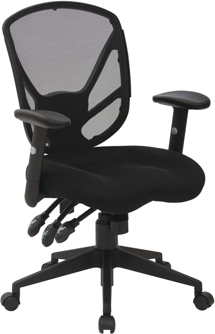 Saddle Office Chair Work Smart Black Office Chair Saddle Seat Spx2723rnb 3