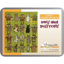 Supple Owls Pussycats Kathy Dezarn Beynette 100 Piece Jigsaw Puzzle 95 100 Piece Puzzles Free 100 Piece Puzzles From Your Own Photos