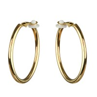 Clip On Gold Hoop Earrings Clip On Clic Hoop Earrings Gold ...