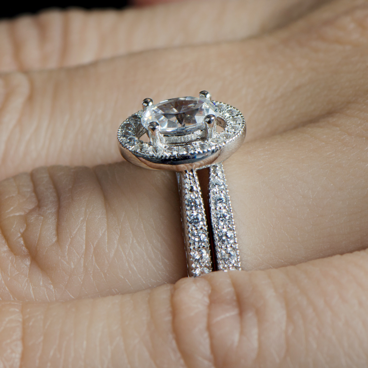 Oval Wedding Ring Sets