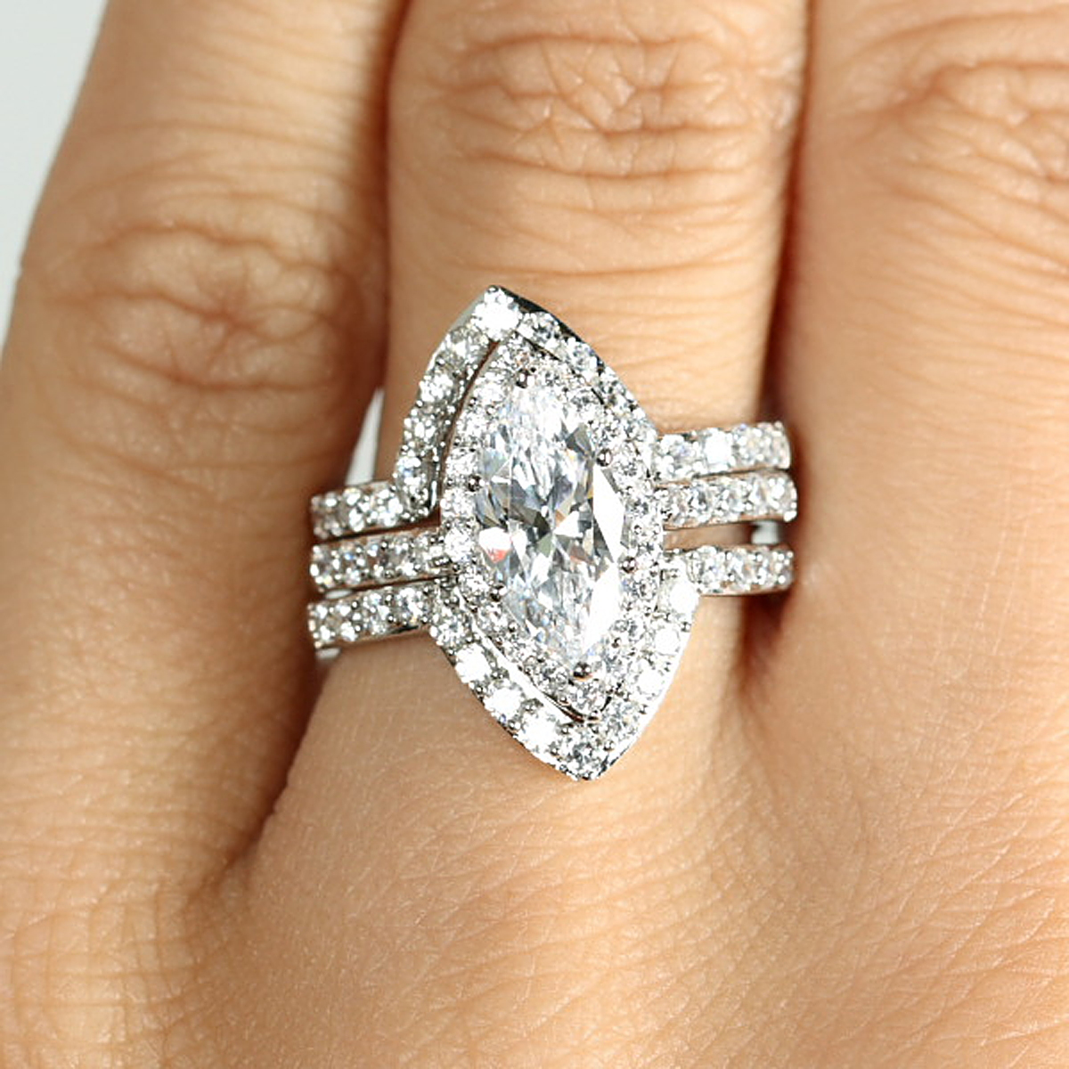 wedding ring set double guards download - Wedding Ring Guards