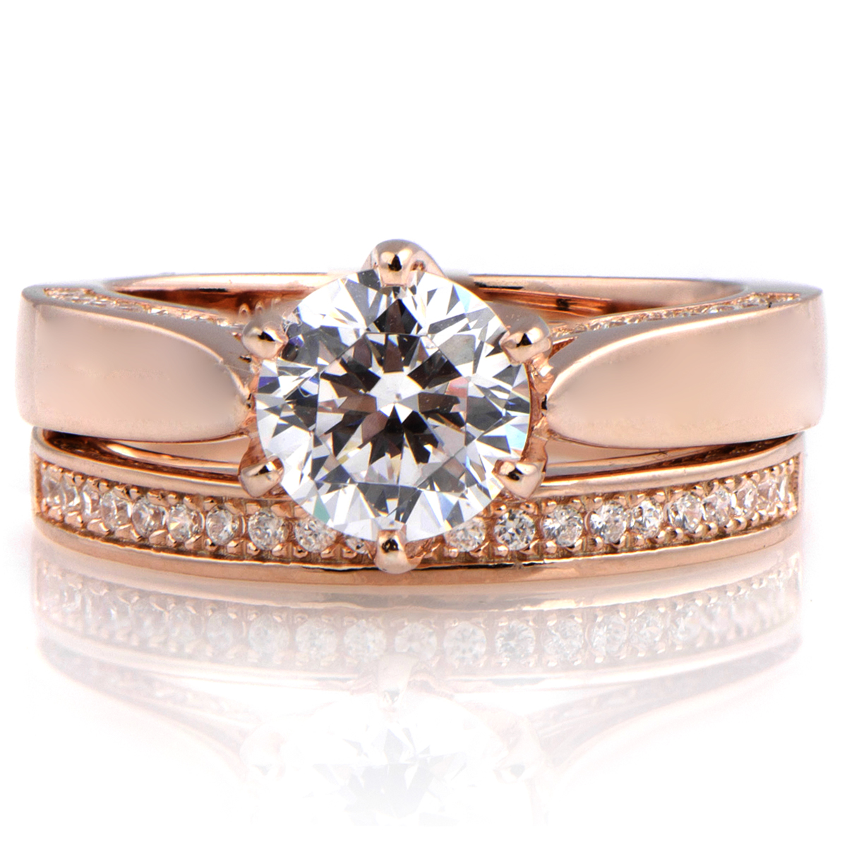 impossibly beautiful rose gold wedding engagement rings 4 rose gold wedding rings Gorgeous Rose Gold Engagement Rings