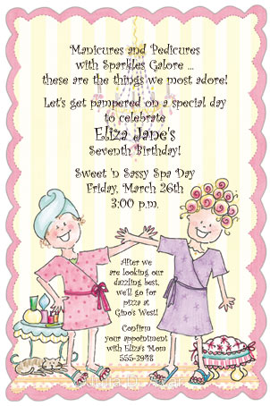Little Spa Girls Invitation - Birthday Party Invitations (Girls) - spa invitation