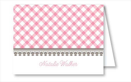 Pink Gingham Note Cards - RosanneBECK Notecards - 20 styles!