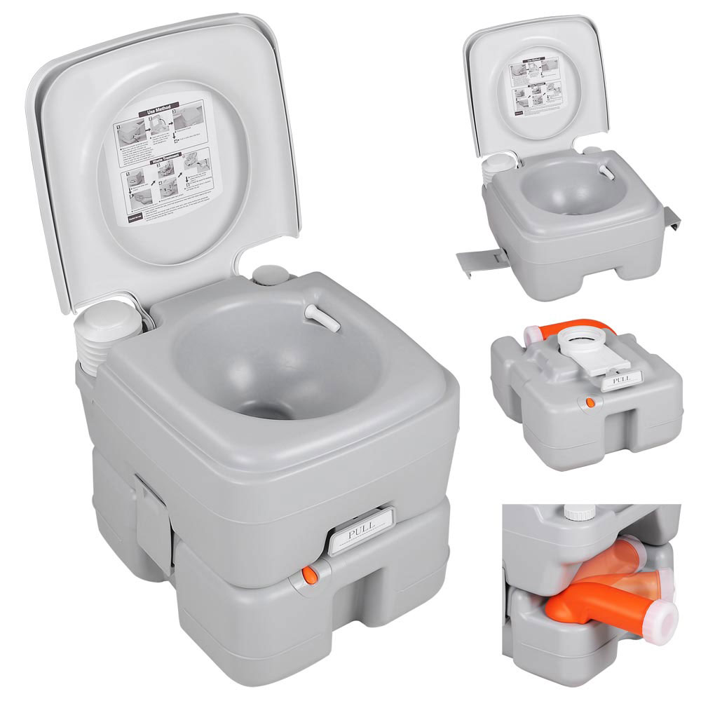 Camping Toilet 4 Gal Portable Camping Toilet Travel Outdoor Potty 15l