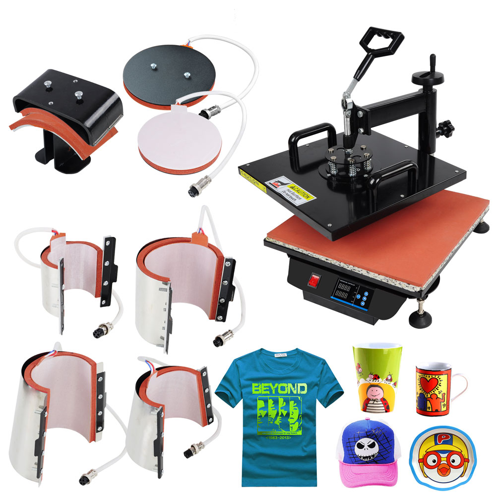 Sublimation Press 8in1 15x15 Heat Press Machine Transfer Sublimation
