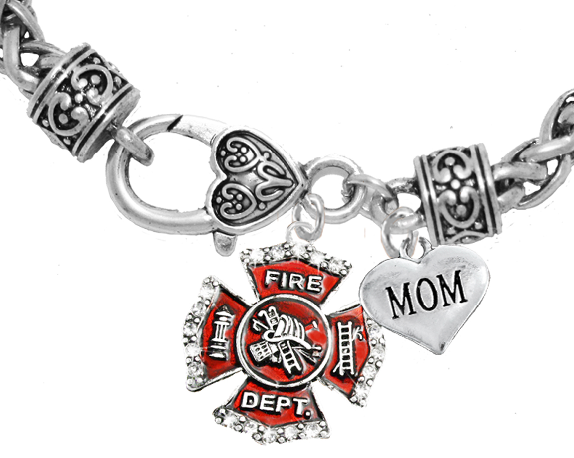 necklace firefighter pendant sweetaspenjewels by pin maltese cross