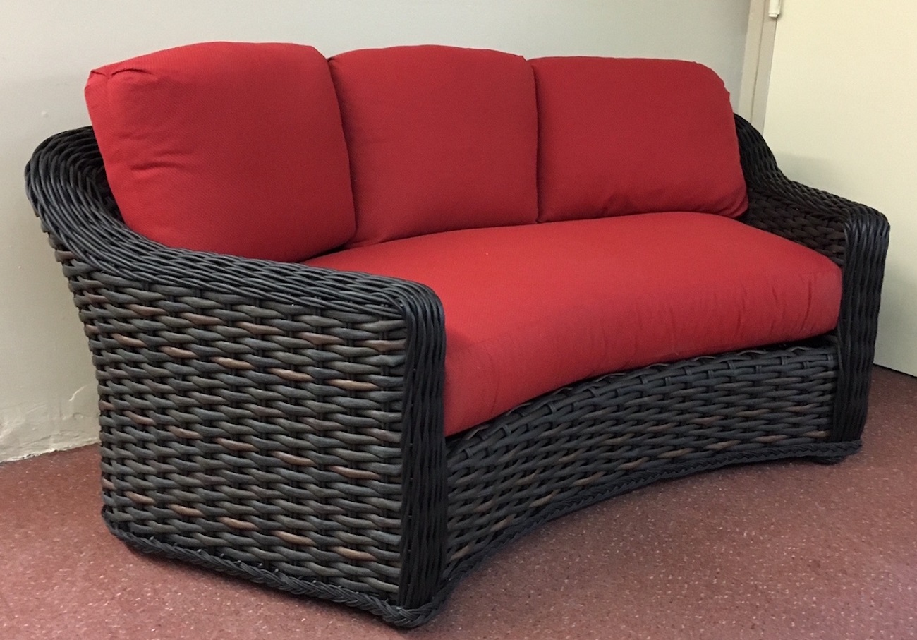 Outdoor Couch Lake George Outdoor Wicker Curved Sofa