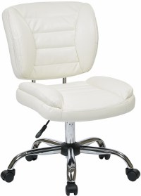 Armless Faux Leather Task Chair [ST52050C] in Red, White