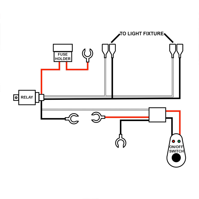 off road lights ledningsdiagram for relays
