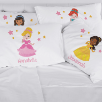 Personalized Kids - Princess Character Pillowcase - New Ideas
