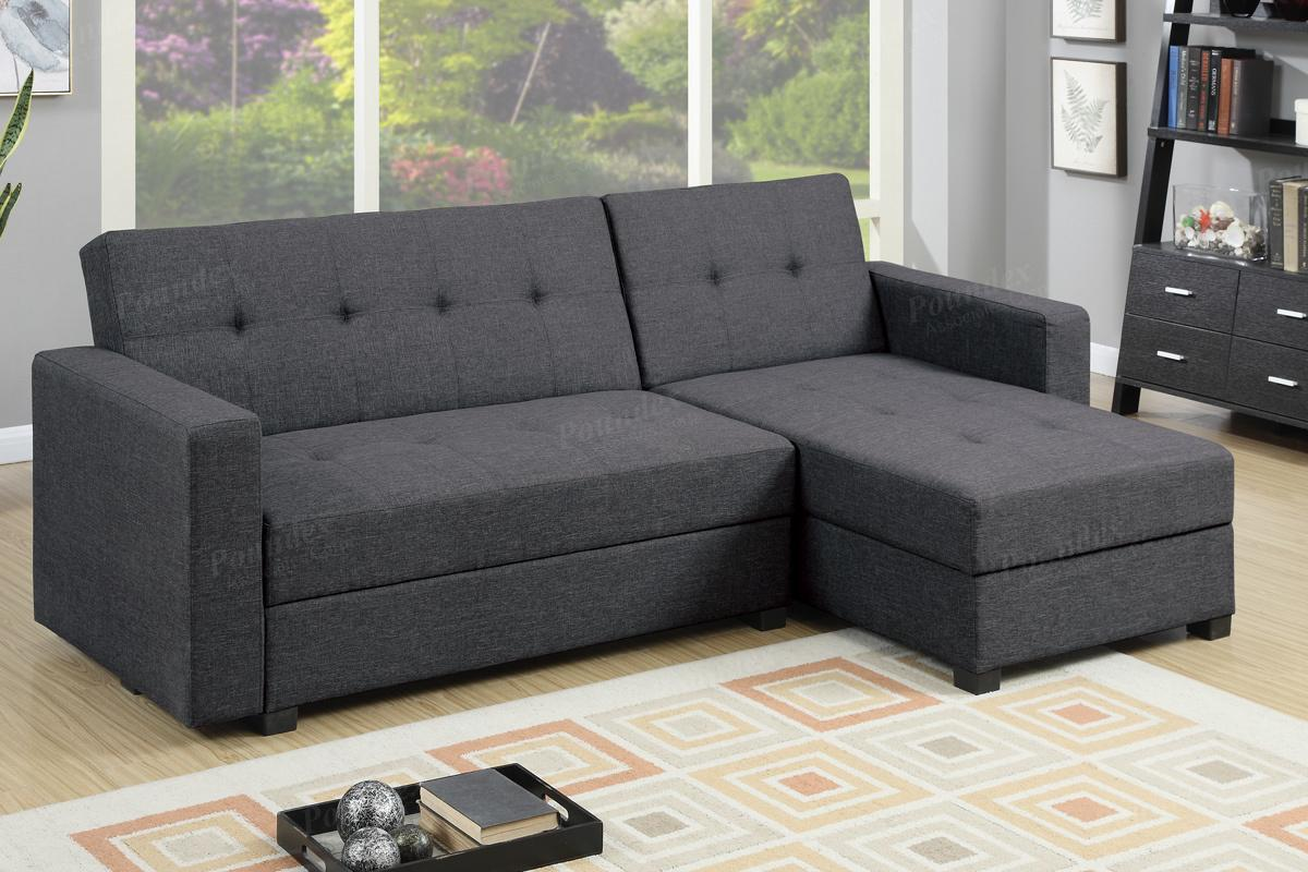 Sofa Bed Los Angeles Amala Grey Fabric Sectional Sofa Bed