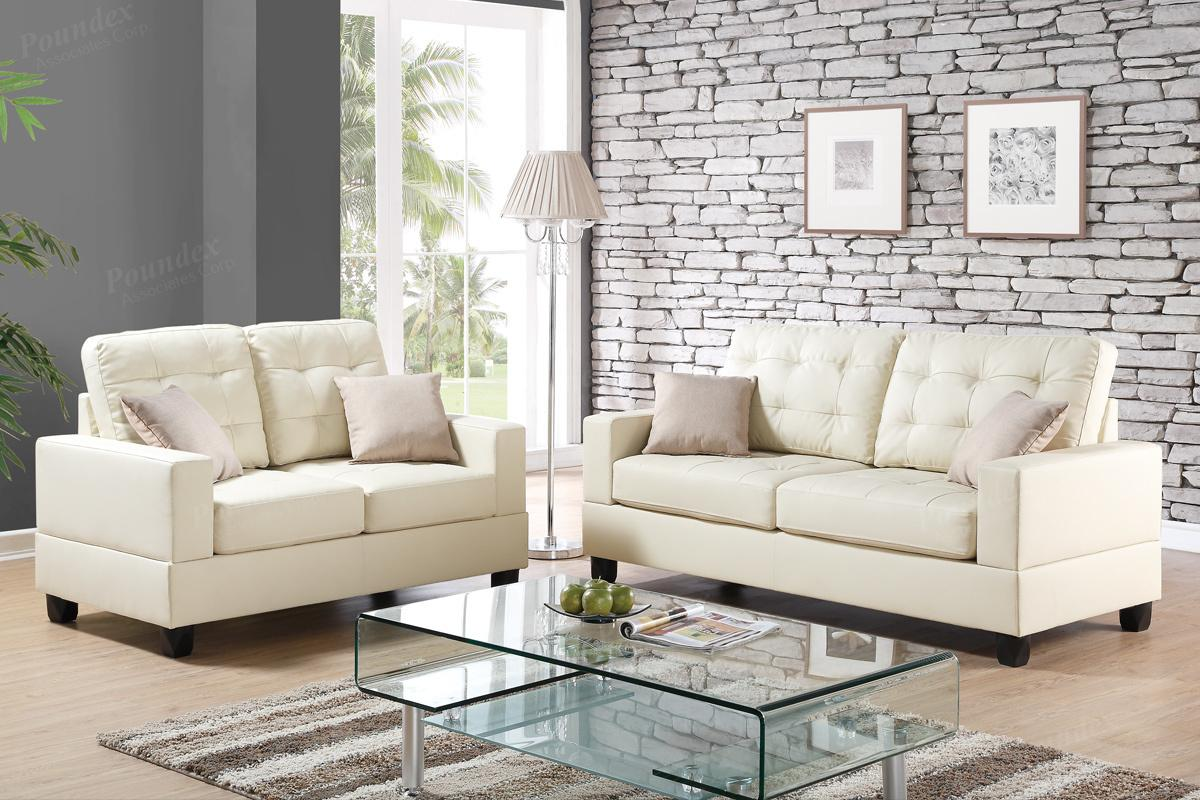 Sofa Beige Anse Beige Leather Sofa And Loveseat Set