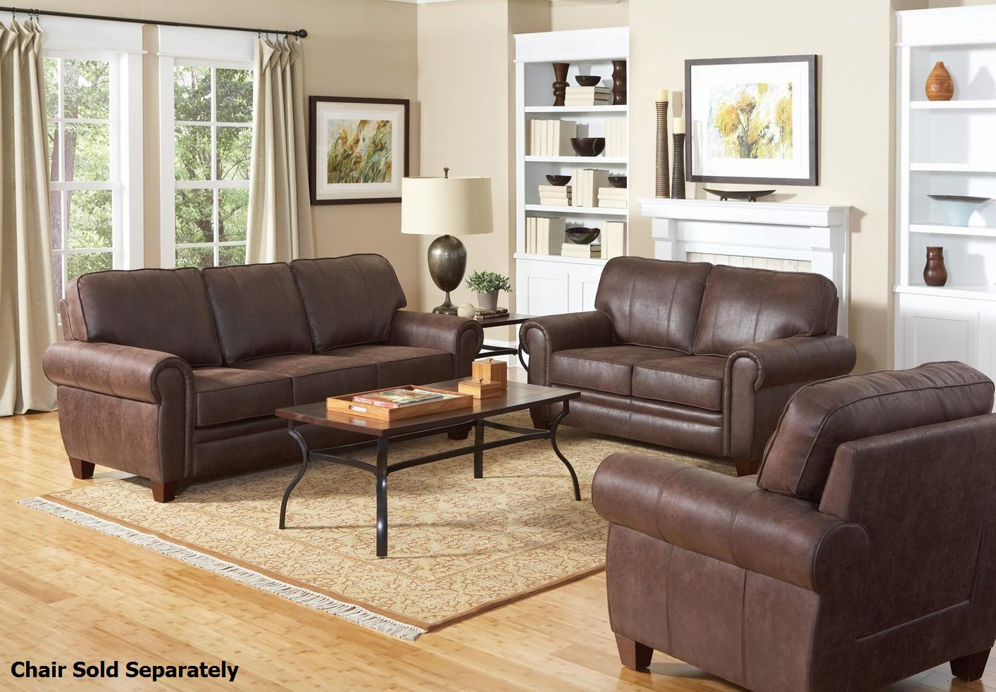 Brown Sofa And Loveseat Sets Bentley Brown Fabric Sofa And Loveseat Set