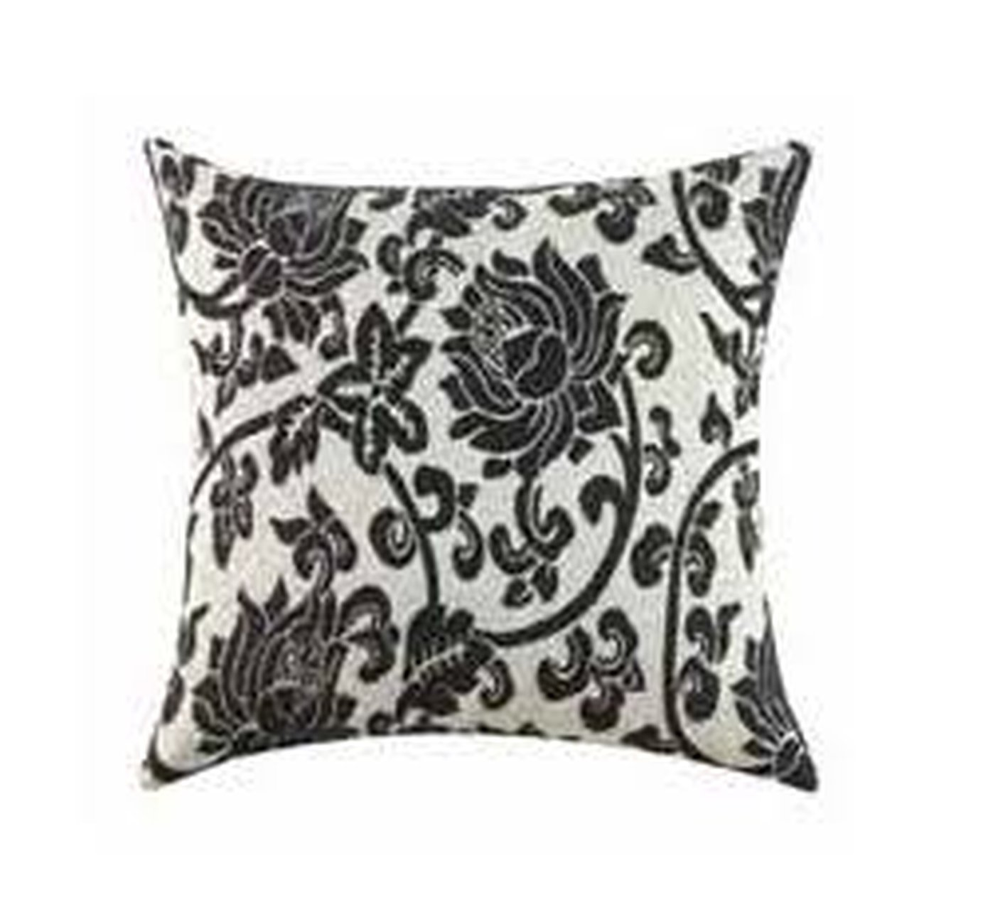 Sofa Outlet Paisley White Fabric Accent Pillow