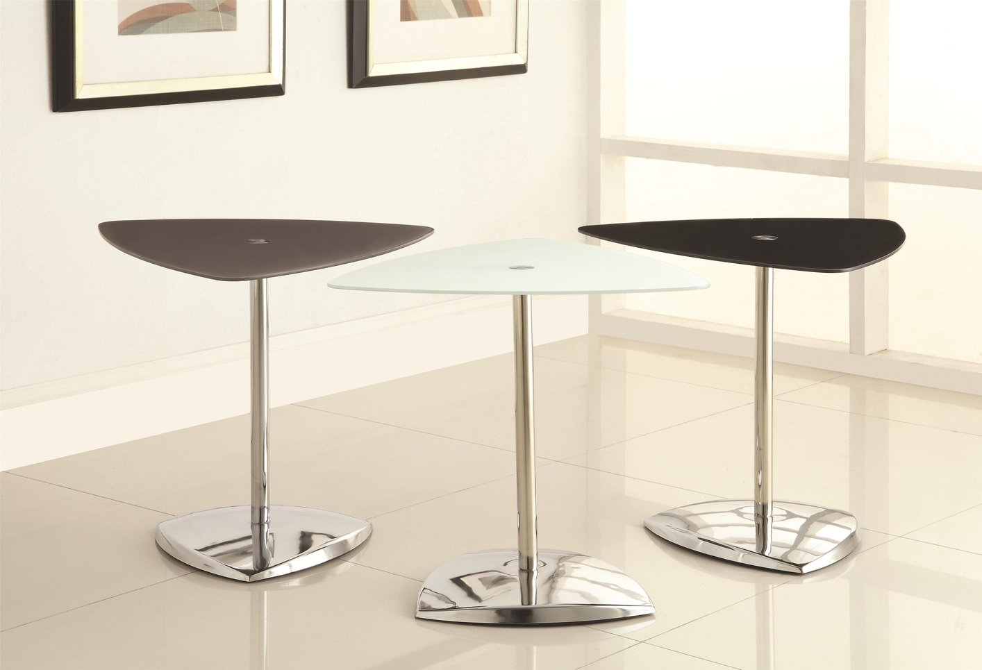 White Metal End Table White Metal Accent Table Steal A Sofa Furniture Outlet