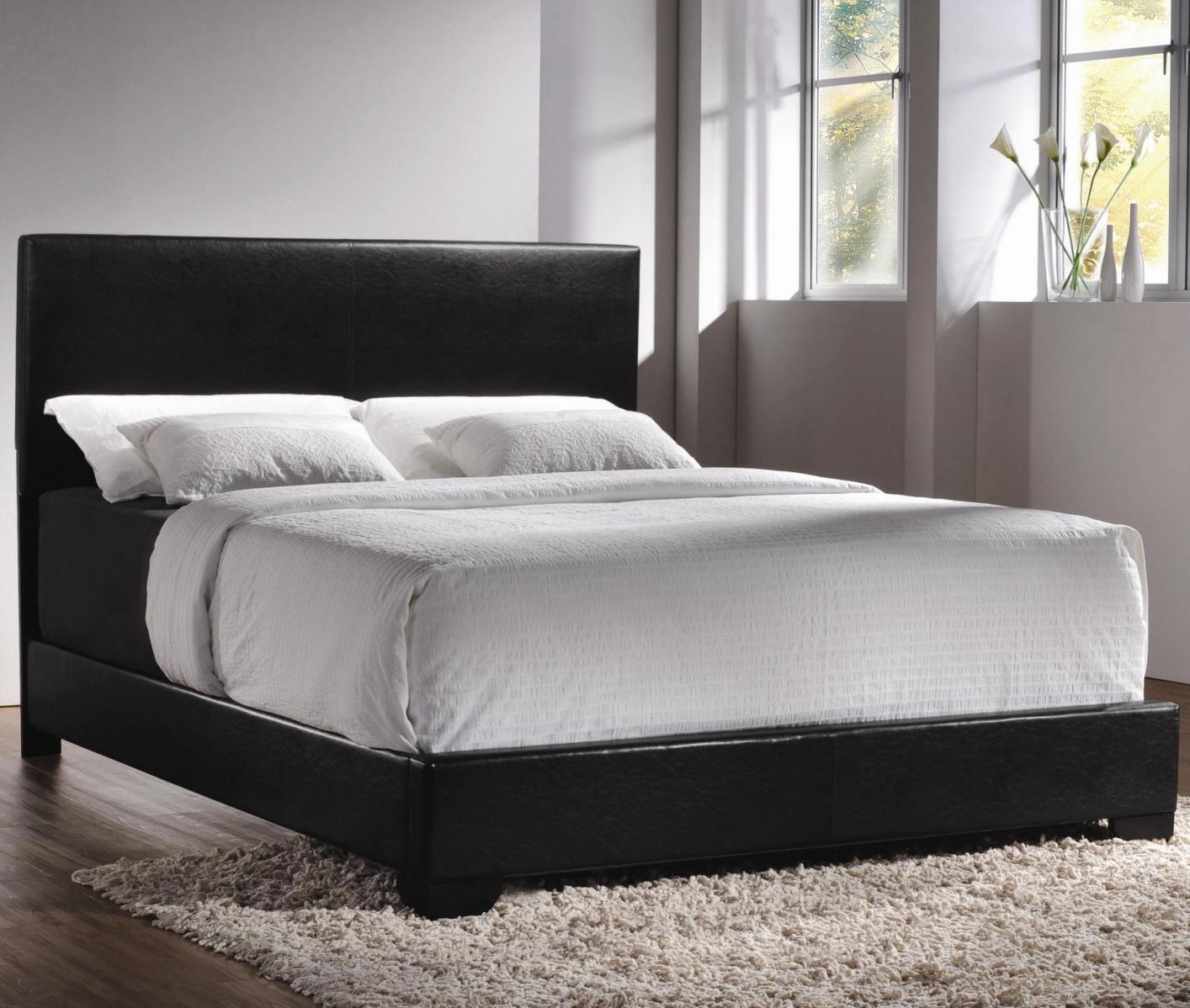 Leather Bed Black Leather Bed