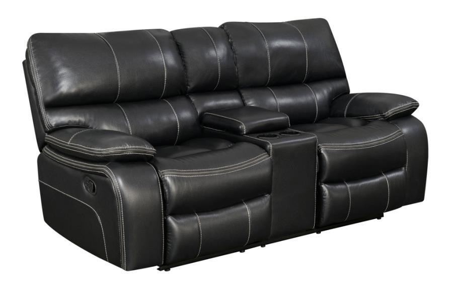 Black Leather Reclining Loveseat Steal A Sofa Furniture