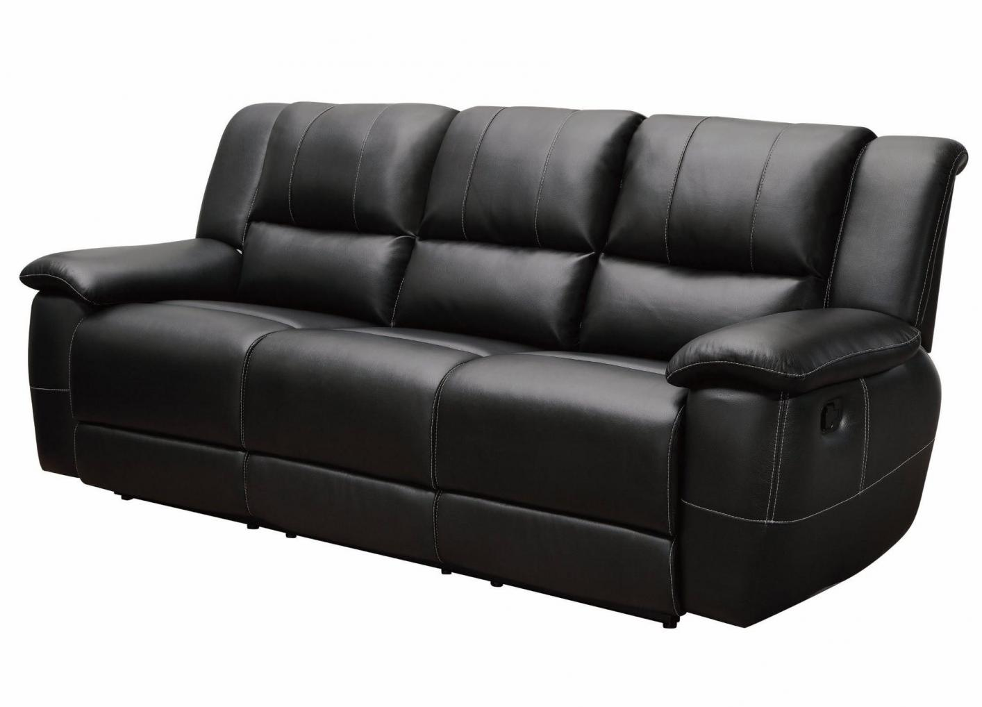 Reclining Sofa Los Angeles Ca Black Leather Reclining Sofa - Steal-a-sofa Furniture
