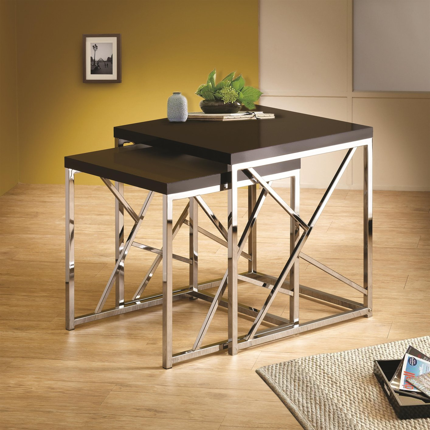 Black Metal Nesting Tables Silver Metal Nesting Table Steal A Sofa Furniture Outlet