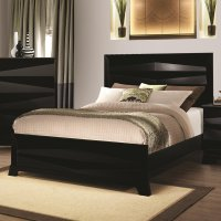 Black Wood California King Size Bed - Steal-A-Sofa ...