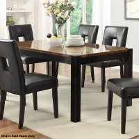 Brown Wood Dining Table - Steal-A-Sofa Furniture Outlet ...
