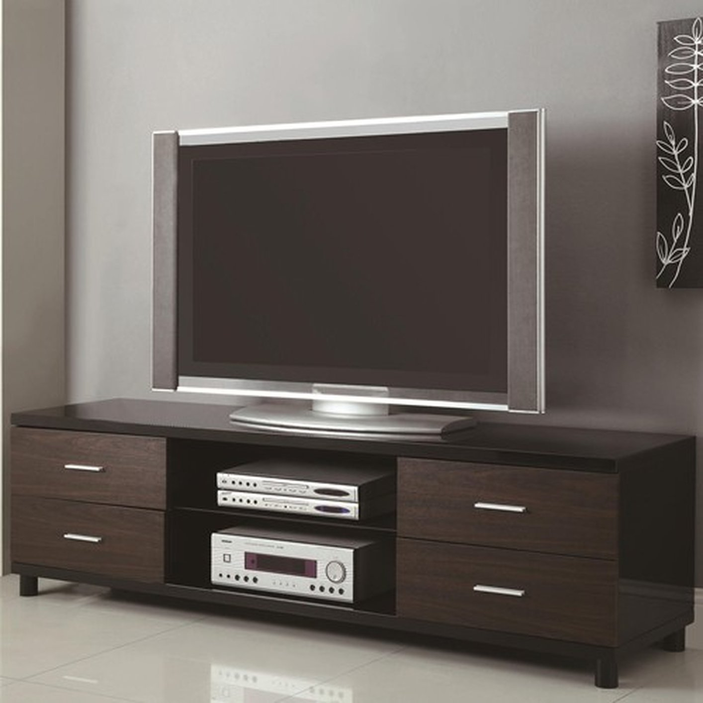 Tv Stand Brown Wood Tv Stand Steal A Sofa Furniture Outlet Los