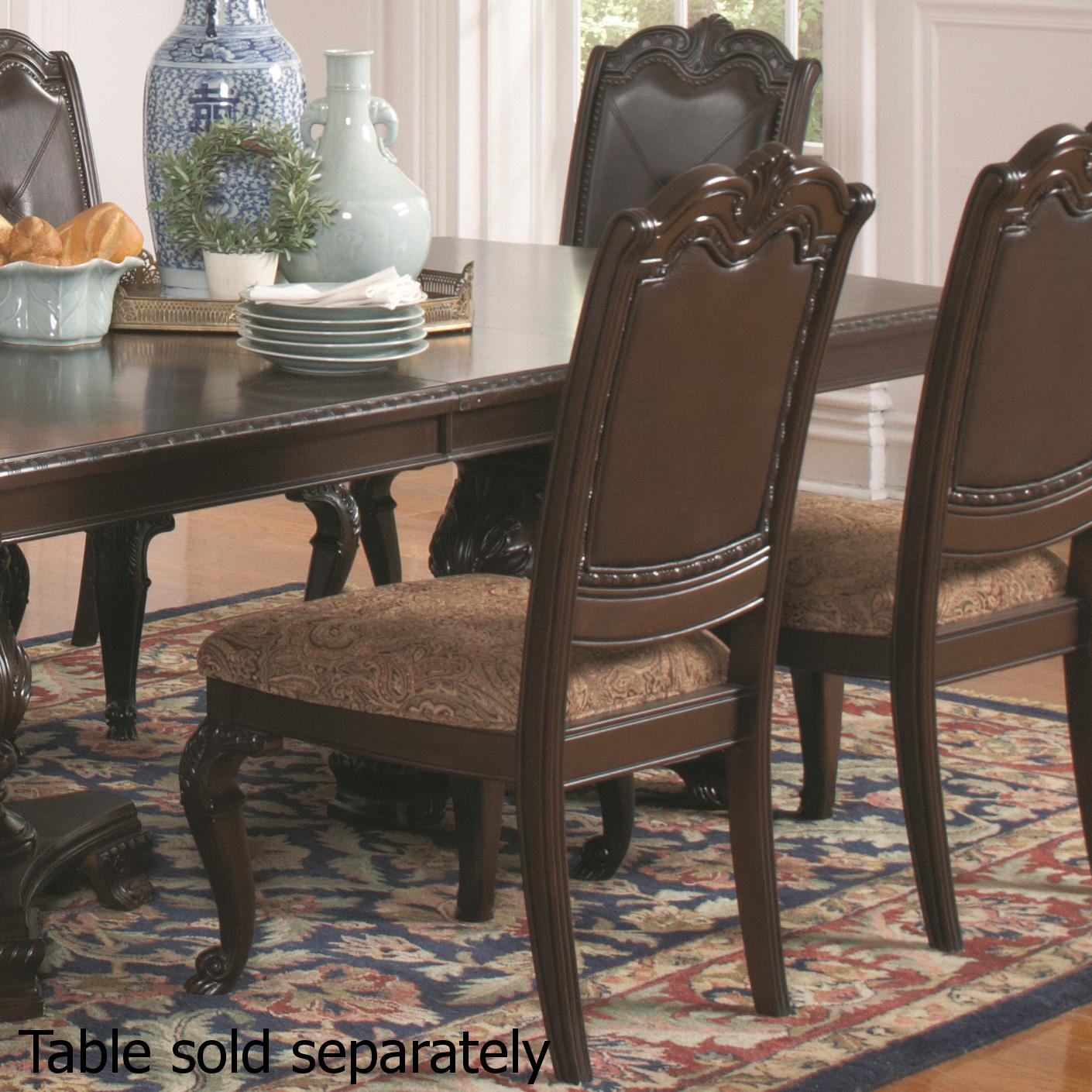 Sofa Outlet Paisley Brown Wood Dining Chair