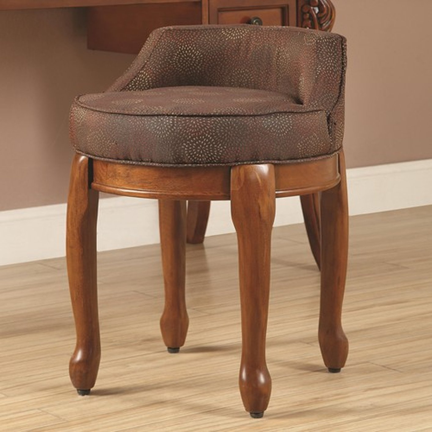Wooden Vanity Chair Brown Wood Vanity Stool Steal A Sofa Furniture Outlet