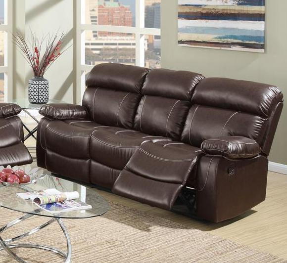 Reclining Sofa Los Angeles Ca Brown Leather Reclining Sofa - Steal-a-sofa Furniture